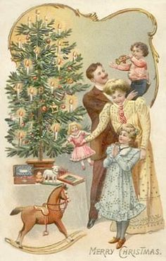 victorian family Christmas