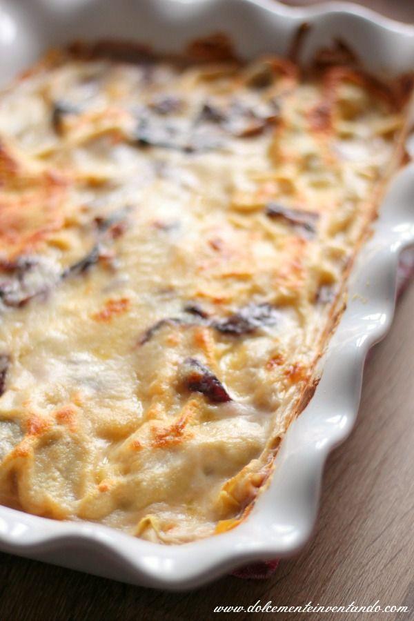 Le lasagne radicchio e gongorzola