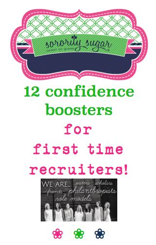 "If you're nervous about recruiting PNMs for the first time, sorority sugar has some TIPS to boost your self-confidence. It's terrific to be on the ""other"" side of rush week. Get the reassurance you need to succeed! <3 BLOG LINK: http://sororitysugar.tumblr.com/post/137414618924/rushtalk-tips-for-being-a-first-time-recruiter#notes"