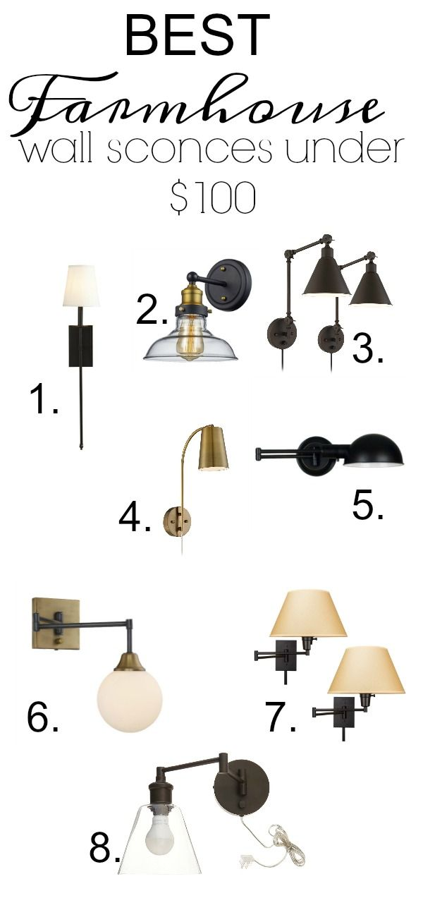 Best Farmhouse Wall Sconces Under $100 Farmhouse wall sconces have been on my mind lately. Maybe because I ran into a home depot wall sconce in a catalog the other day and I can't seem to get it out of my head…or because I'm helping a friend of mine design her master bedroom with farmhouse... Read more