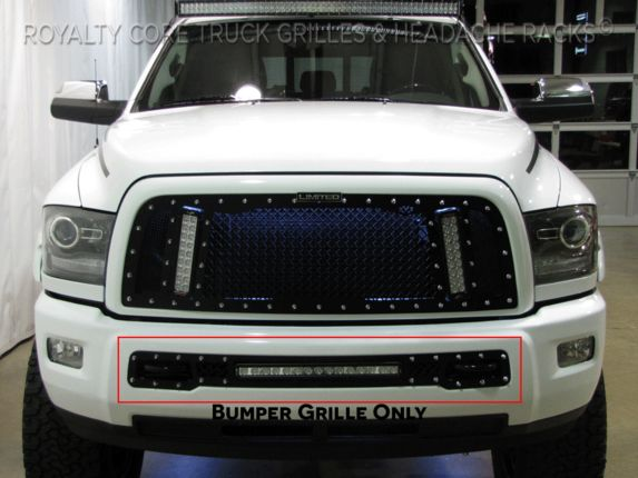 "Dodge Ram 2013-2017 2500/3500 Bumper Grille with 20"" LED Bar"