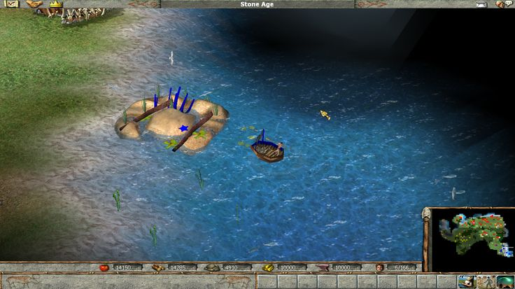 The Stone Age (50000 BC - 5000 BC) is the second age of Empire Earth and first age of Empire Earth II. It unlocks several new buildings, units and improvements. It also allows fishing, which means that more food is available.