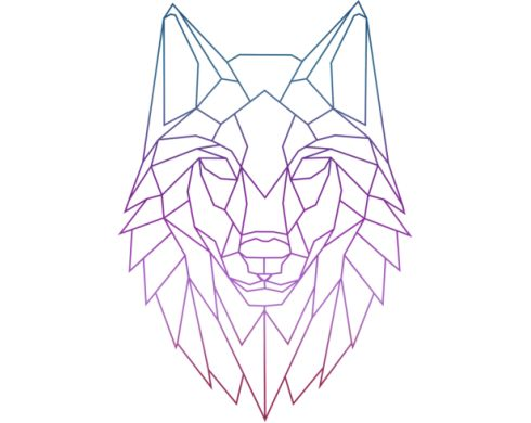best 25 geometric wolf ideas on pinterest geometric wolf tattoo geometric drawing and. Black Bedroom Furniture Sets. Home Design Ideas