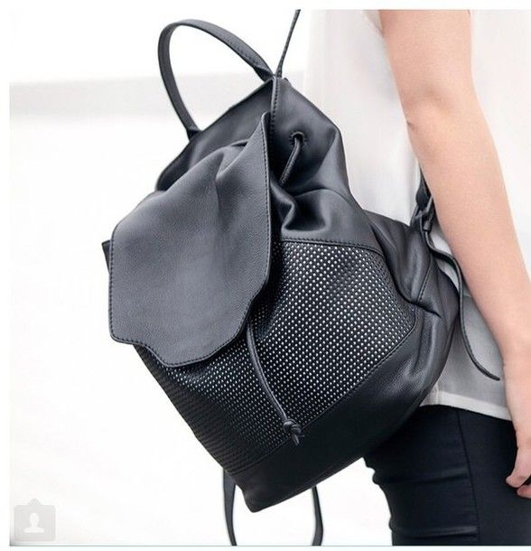Bag: leather backpack, back to school, college, our favorite accessories 2015 - Wheretoget