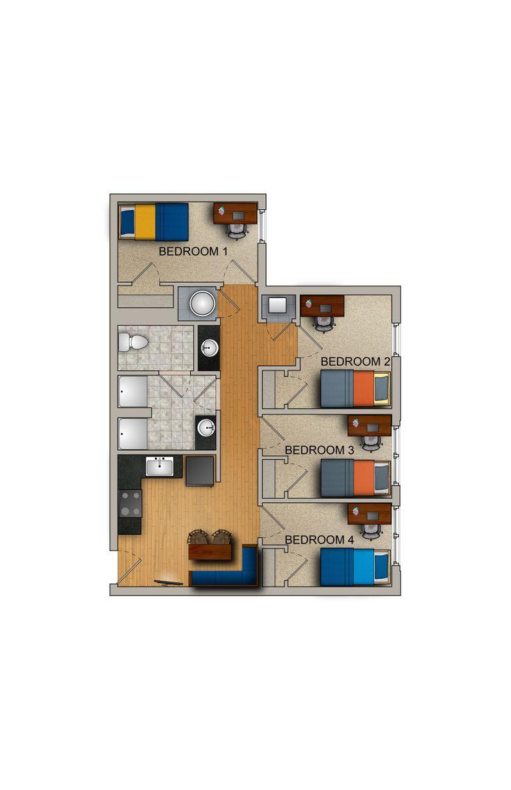4 Bedroom 2 Bath Studio Apartment WVU