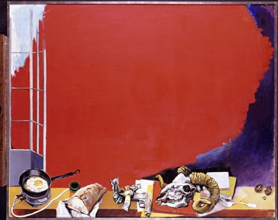 Renato Gutuso 'Red Cloud' as seen at the Neue Nationalgalerie in Berlin.