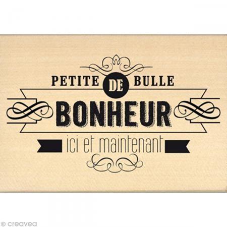 Tampon Chalk spirit - Bulle de bonheur - 10 x 7 cm