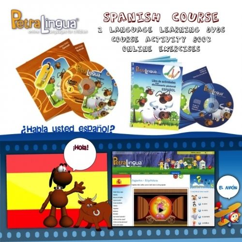 These language courses for kids on 2 DVDs with the activity book that covers every topic of the courses. A fun and efficient way to teach kids basic words and phrases through a variety of everyday situations. A beginners course for kids 3-10, suitable for homeschooling and classroom use. Includes 12 months access to vocabulary building games that are available only online, on PetraLingua website. Retail value $103 Now ships anywhere in the world for $10!