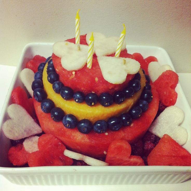 all fruit birthday cake - photo #18