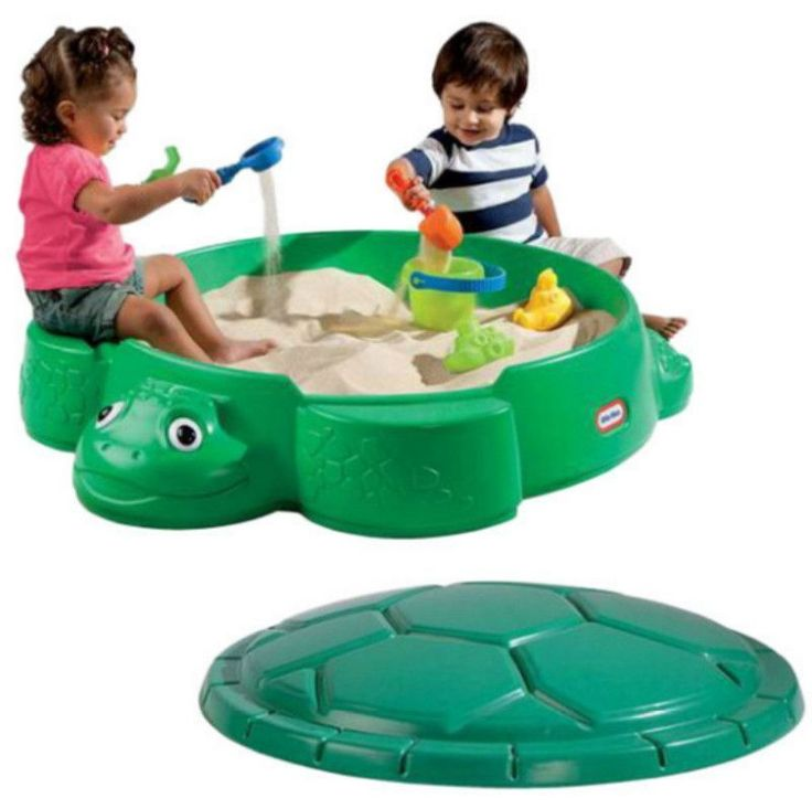 Create your own playtime sandpit for your kids in your backyard with the lovely Little Tikes Turtle Round Sandbox. The construction from high-quality plastic makes this sandbox sturdy and long-lasting