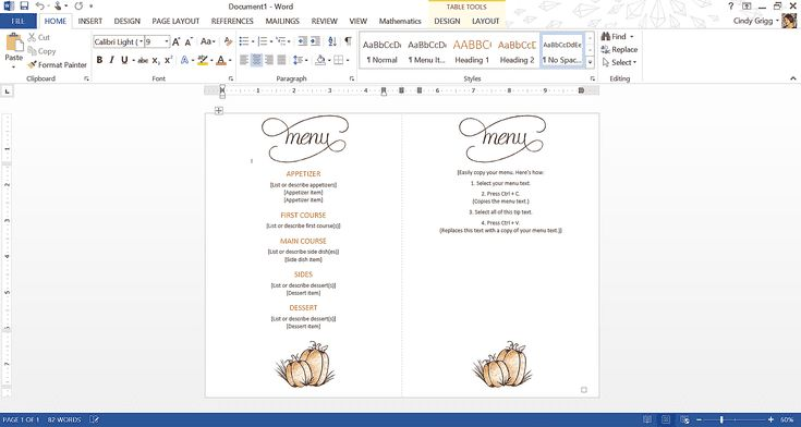 Make Turkey Day Easier Using Free Thanksgiving Templates for Microsoft Office: Printable Classic Thanksgiving Menu Template or Printable for Microsoft Word
