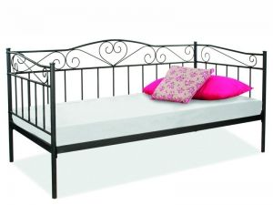 BIRMA Bed SIGNAL. Elegant bed in classic style. The frame is metal, as well as original grille in black or white color. The mattress must be ordered - 90 x 200 cm. Polish Signal Modern Furniture Store in London, United Kingdom #furniture #polish #signal #bed #beds