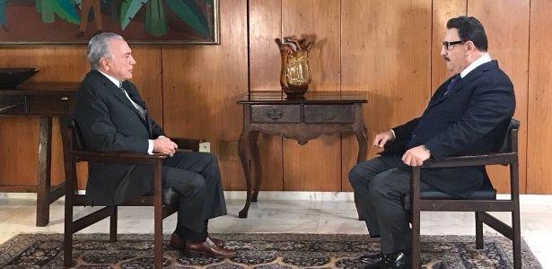 Depois de entrevistar Temer, Ratinho grava vídeo no Planalto defendendo reformas