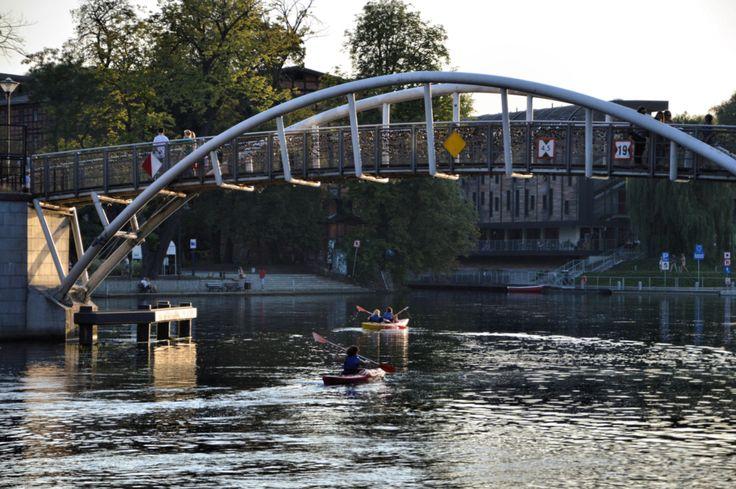 Brda River, Mill Island, Bydgoszcz, Poland