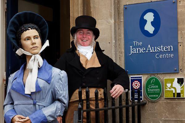 Outside the Jane Austen Centre Bath