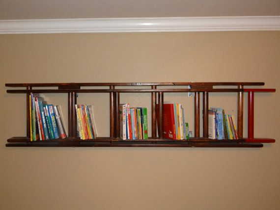 Handmade unique ladder bookshelf perfect for your little firefighter s. Top 25 ideas about Firefighter Room on Pinterest   Firefighter