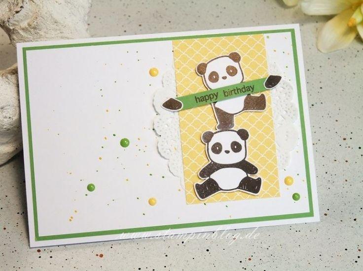 geburtstagskarte mit panda in 2020