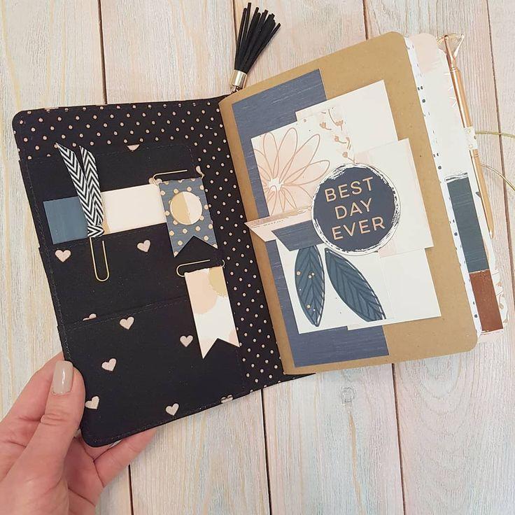 Black travel book. Notebook . Planner