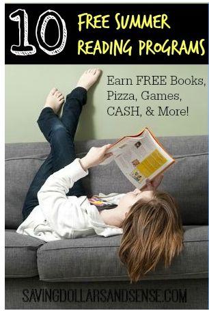 10 FREE Summer Reading Programs #backtoschool #summer #reading #books
