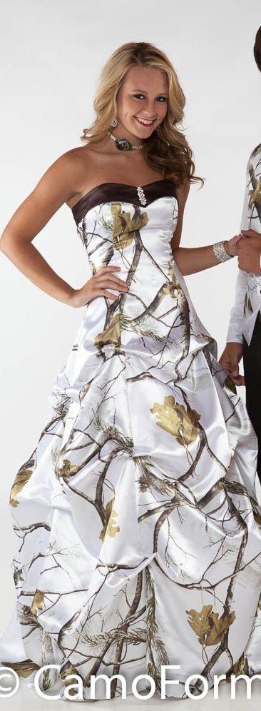 8 best dresses images on pinterest for Snow white camo wedding dress