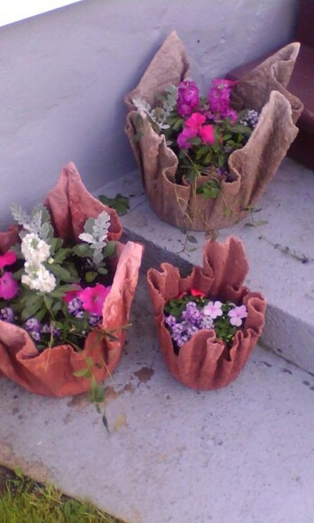 Уличные горшки для цветов своими руками готовы
