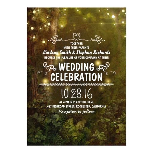 Best 25 Forest wedding invitations ideas on Pinterest Forest