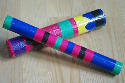Zaklinacz deszczu, instrument deszczowy, dla dzieci. Instrument muzyczny z recyklingu- z opakowania po mini farbach. Rainmaker, rain stick, for children. Musical instrument with recyklingu- of packaging mini paint.