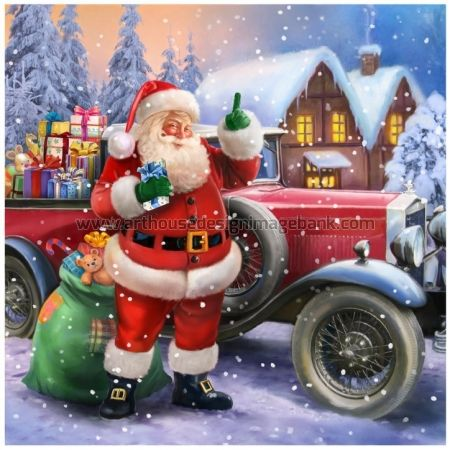Santa Claus images for licensing. X-mas images for publishing, www.arthousedesignimagebank.com