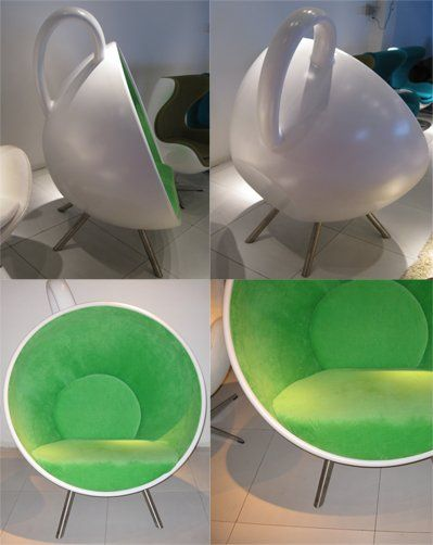 morden design living room big tea cup chair