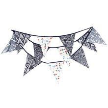 12 GROTE Vlaggen 3.6 m Marineblauw Katoen Stof Gors Wimpel Vlaggen Banner Garland Bruiloft/Verjaardag/Baby Douche Party Decoratie(China (Mainland))