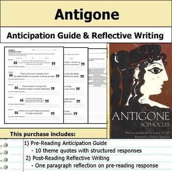 antigone reading response Honig's sweeping consideration of how the 'antigone' is read and misread offers us a new way to approach the pauses, the ellipses, and the frank interruptions that punctuate this classic text we have all struggled so hard to make the words mean in this or that way that we have perhaps forgotten the more dramatic features.