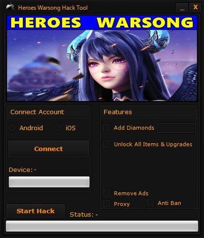 Heroes Warsong Hack Tool