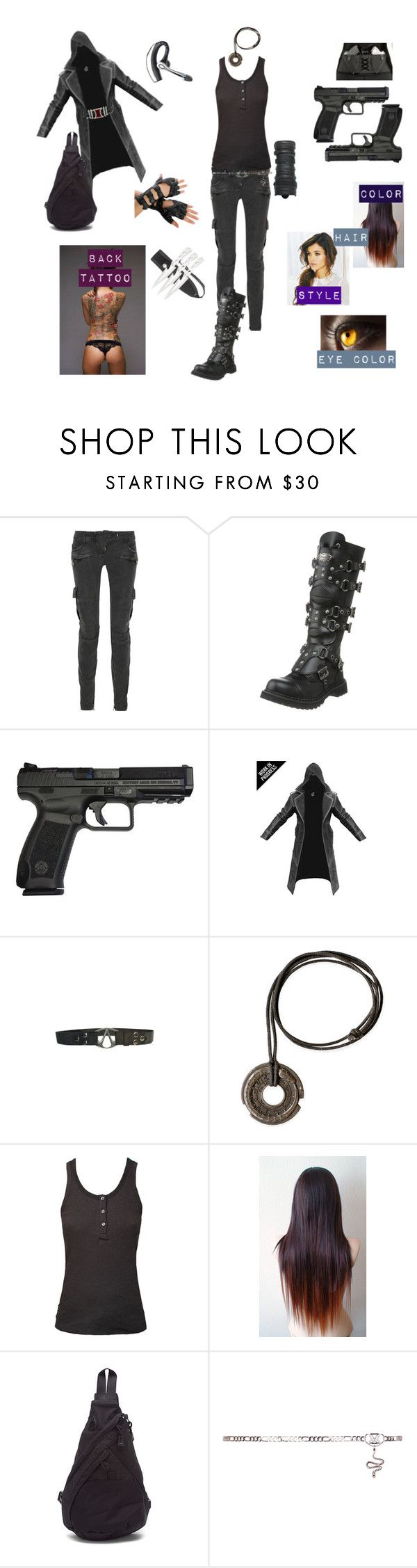 """Modern Assassin's Creed Fan Fiction OC"" by shadow-girl-95 ❤ liked on Polyvore featuring Balmain, Demonia, Ragdoll, AmeriBag, Venom and modern"
