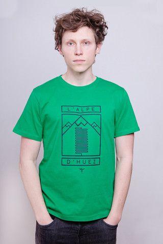 L'Alpe d'Huez Green T-Shirt