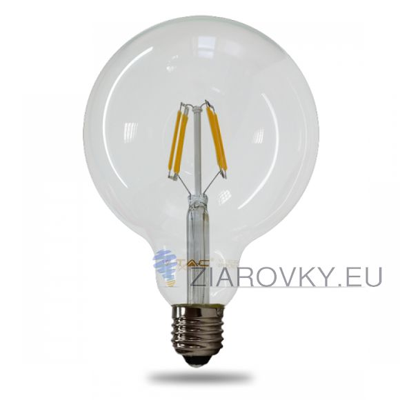 FILAMENT žiarovka - SPHERE - E27, Teplá biela, 6W, 550lm, V-TAC