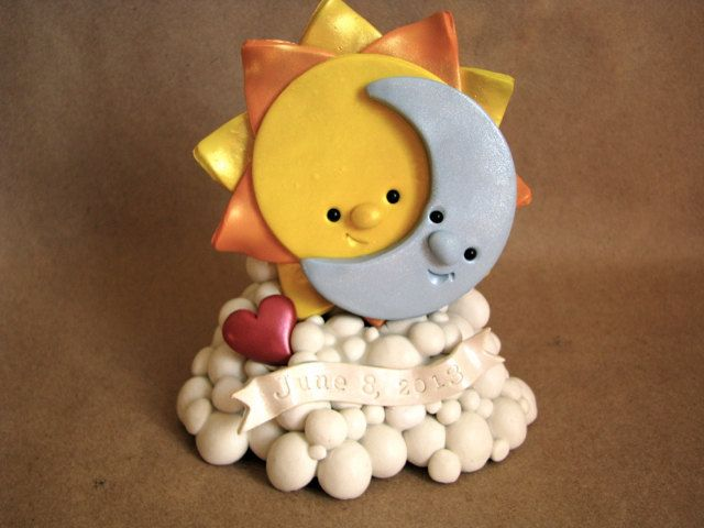 Sun+and+moon+shine+cake+topper+Customizable+by+theaircastle,+$100.00