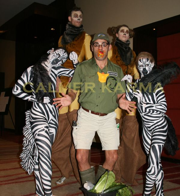 Zoo themed acts  Hint of Zoo themed entertainment to hire across the UK inc Manchester, London, Birmingham, Brighton and Wales. www.calmerkarma.co.uk Tel:  020 3602 9540