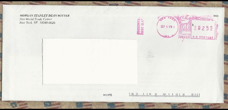 This letter has a return address of 2 World Trade Center and is postmarked 9-11-2001 http://ift.tt/2eJPApq