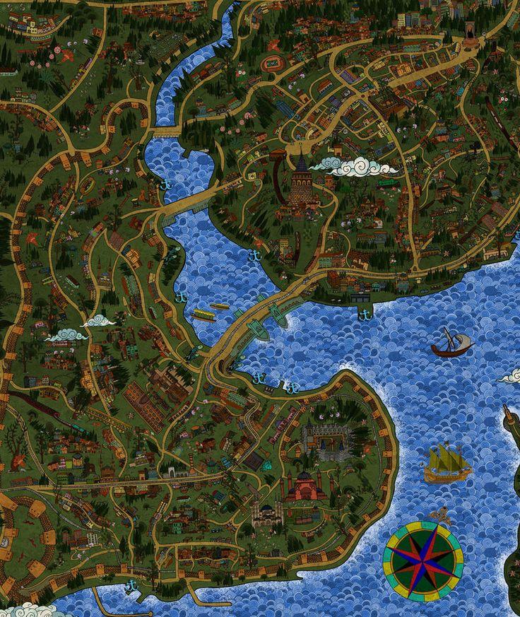 istanbul map - golden horn by mahlukat on DeviantArt