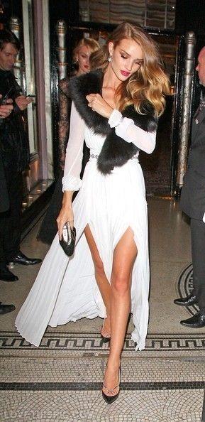 Candice Swanepoel, Victoria Secret Super Model, with beautiful fur collar.