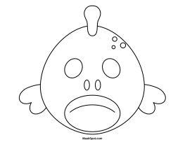 65 best masks images on pinterest birthdays animal for Fish head mask