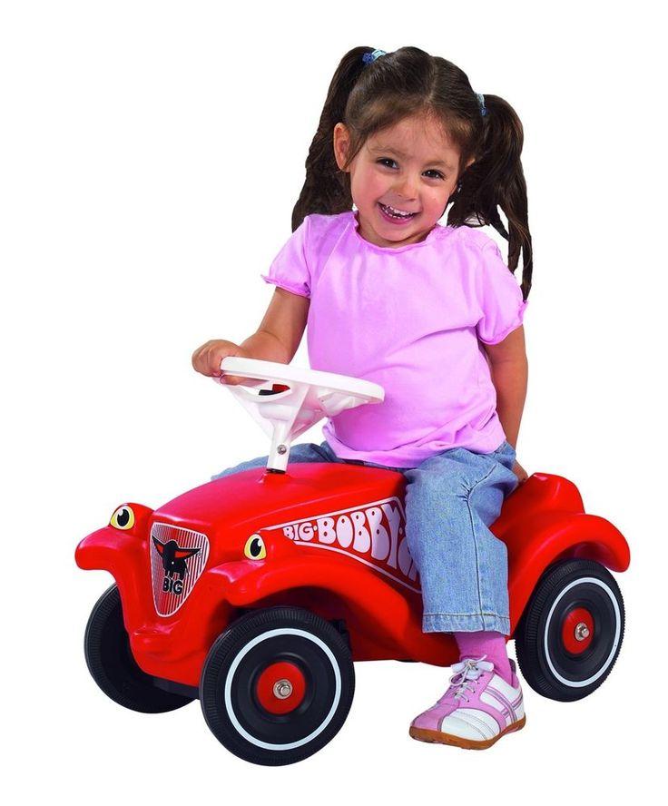 Outdoor Kinderrutschfahrzeug Bobby Car Rot mit vier stabile R