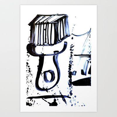 Brush Art Print by Plasmodi - $17.00