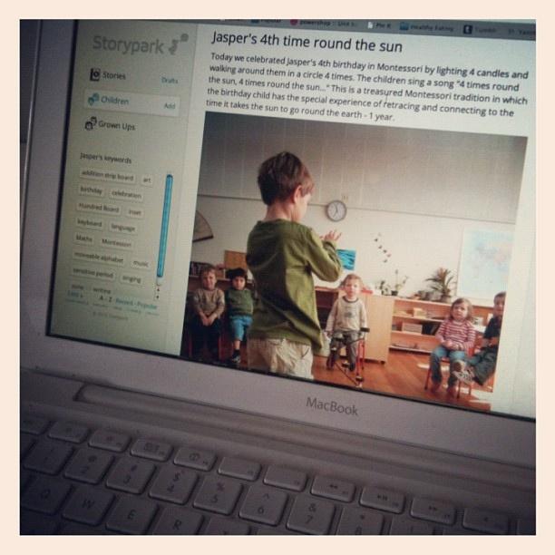 Sharing Jasper's learning stories via storypark by hadleyfierlinger, via Flickr