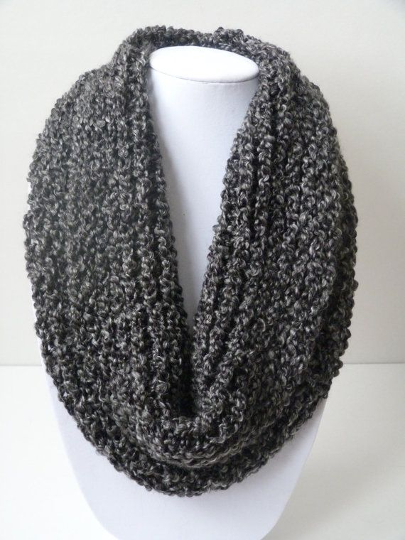 Loom Knit Infinity Scarf: No Wrap looming Pinterest Knit infinity scarv...