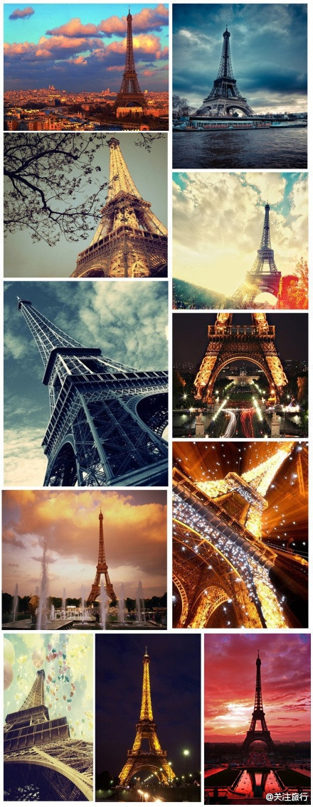 Different views of the Eiffel Tower