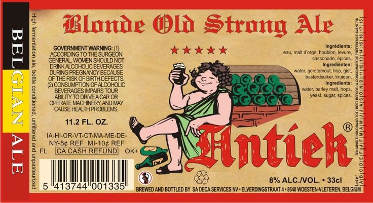 Antiek Blonde Old Strong Ale 8%