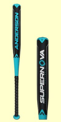 2015 Anderson Supernova Fastpitch Softball Bat (FP15NOVA) is a one-piece, fully composite design that features an extremely lightweight feel. This multi-wall design is approved for play in all major fastpitch softball associations and would be a welcome addition to any player's bag this year. Check it out at JustBats.com today!