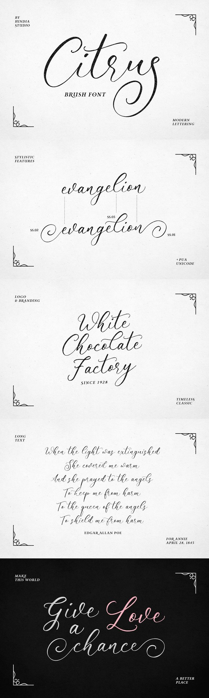 cursive fonts for wedding cards%0A It feels natural  friendly  and timeless  Citrus script can be used for  various purposes such as wedding invitations  thank you cards