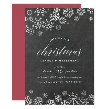 snowed in christmas dinner invitation various invitations